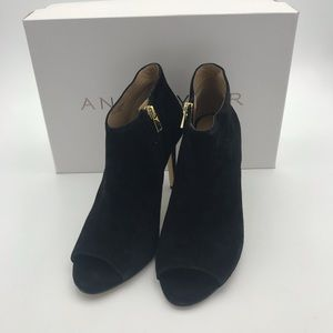 NEW Ann Taylor black suede booties